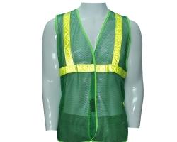 Áo lưới phản quang - Mầu xanh môi trường